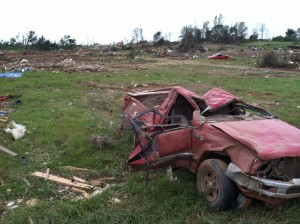 Tornado Damage in Little Axe, Oklahoma